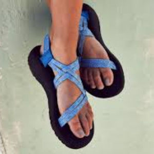 6054234f25db Chaco Shoes - New Chaco ZX 1 Classic Braid Blue Sandals 7W Wide